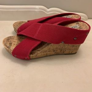 Espirit Pink Cork Wedges Bran New